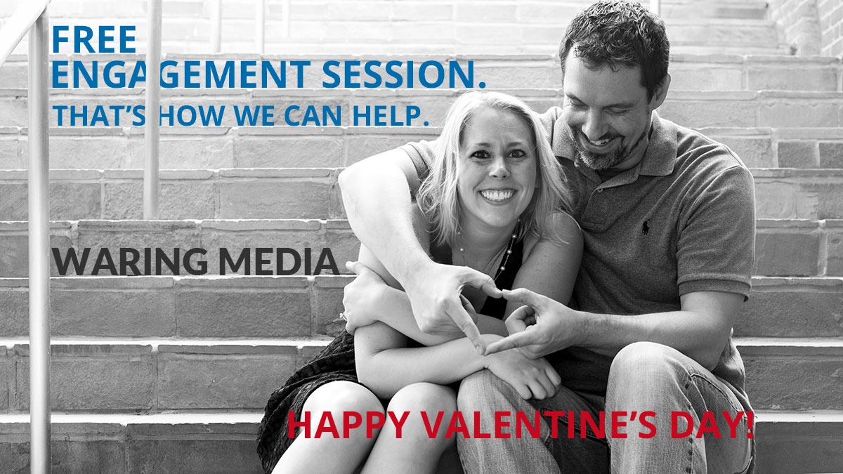 Waring Media is giving away a free engagement session this Valentine's Day.